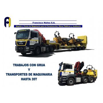 TRACTORA CON GONDOLA Y GRUA